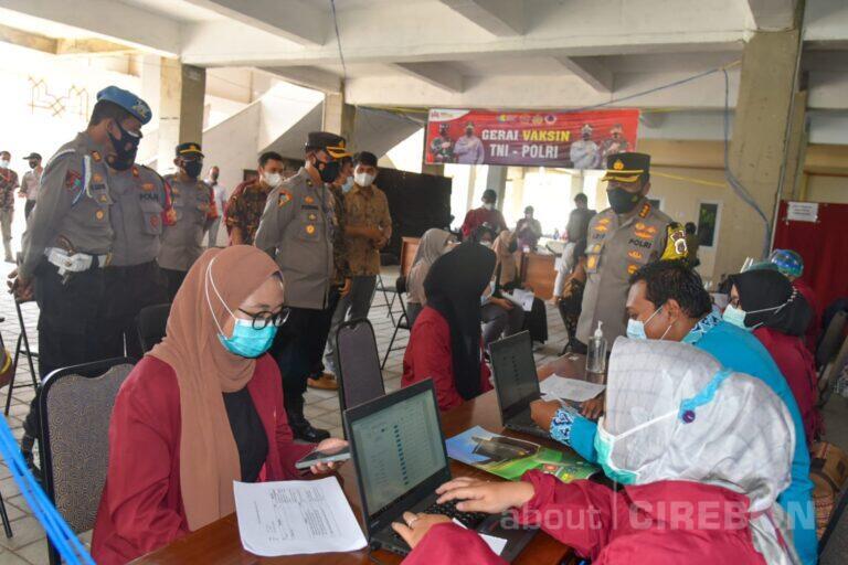 Sasar Perguruan Tinggi, Polresta Cirebon Gelar Vaksinasi Massal