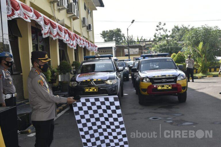 Polresta Cirebon Distribusikan Bantuan 50 Ton Beras untuk Warga Terdampak PPKM
