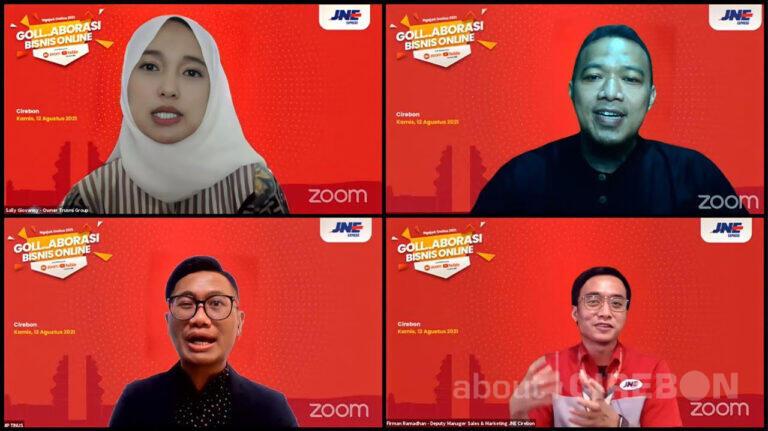 Dukung UKM Cirebon Go Digital, JNE Bagikan Kiat-Kiat Inovasi Pemasaran Digital melalui Webinar